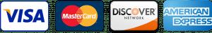 Visa Mastercard Discover American Express icons